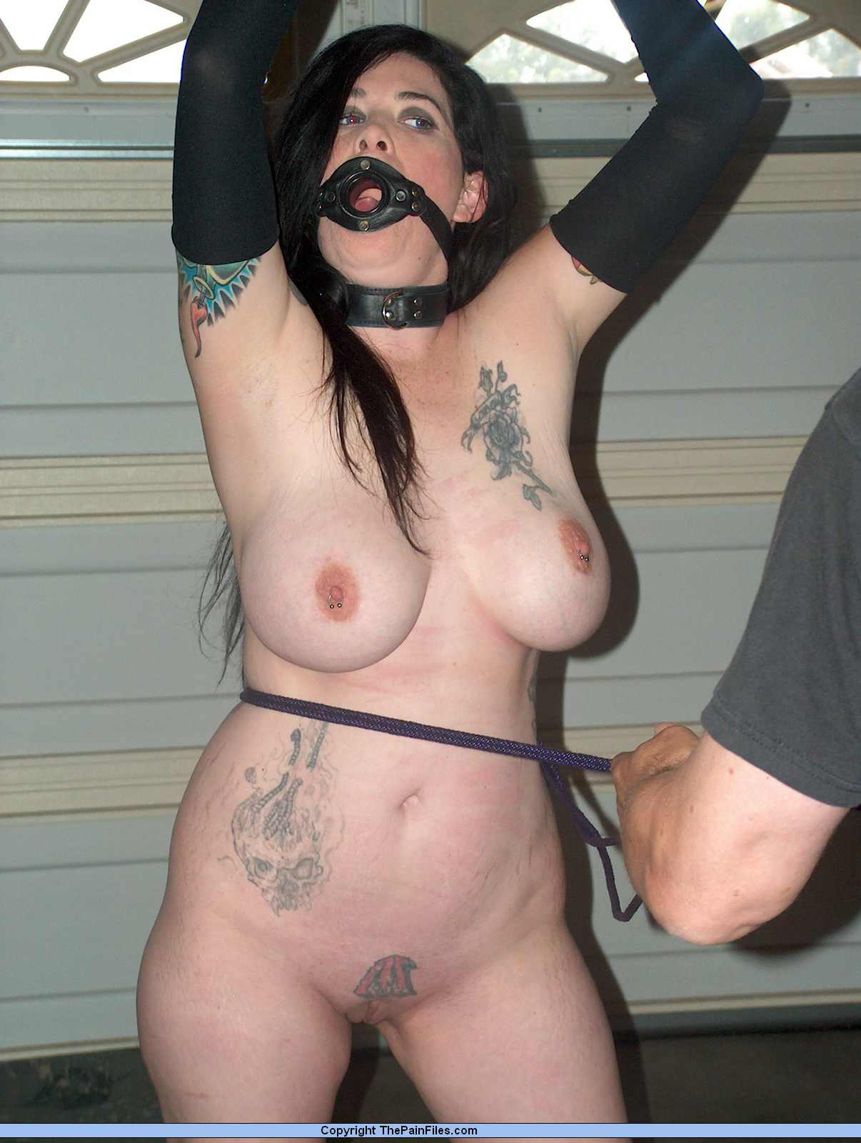 Bondage slave girl and rough fucking 1