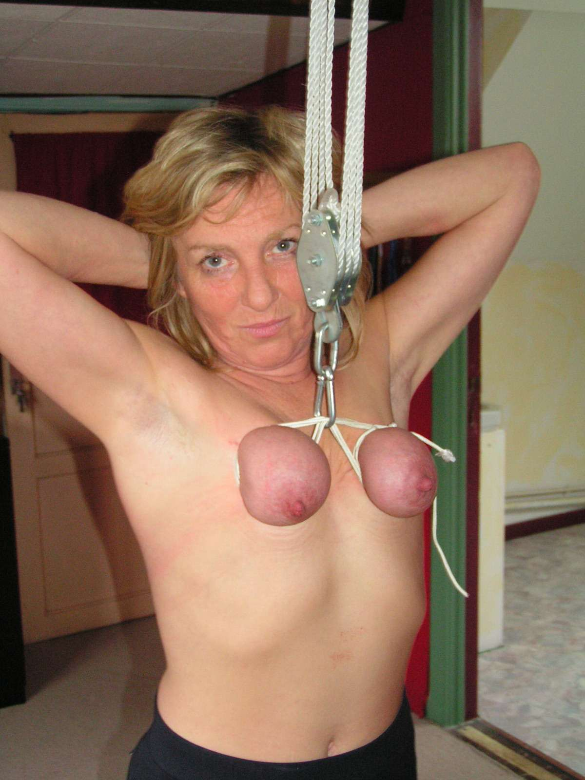 Erotic rope bra