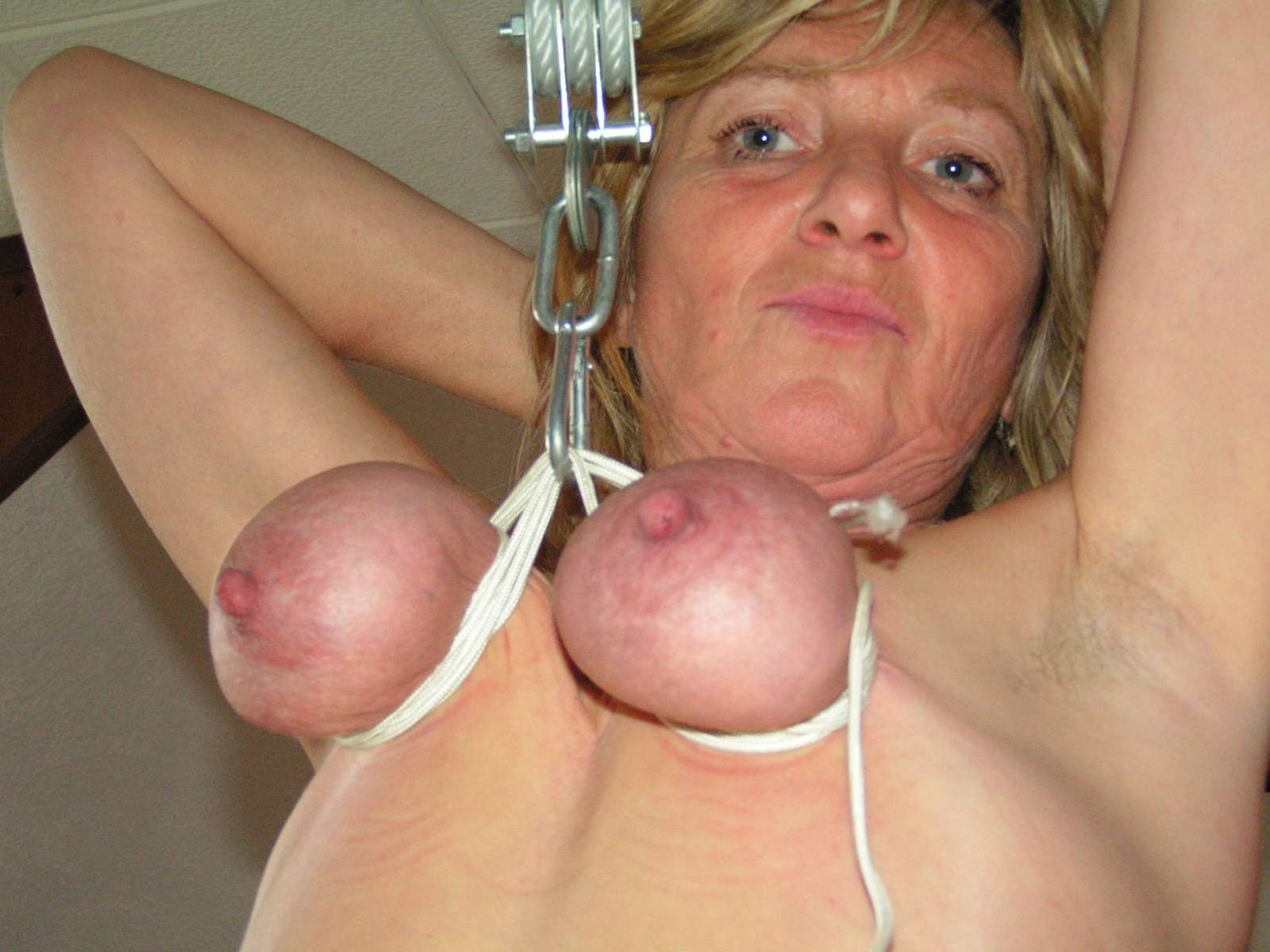 And thought. Breast suspension tit hanging bdsm